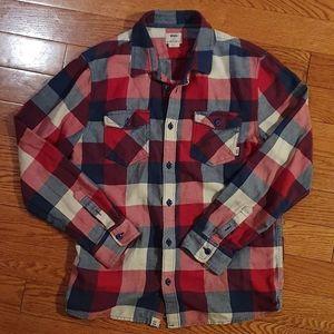 Vans soft flannel plaid shirt